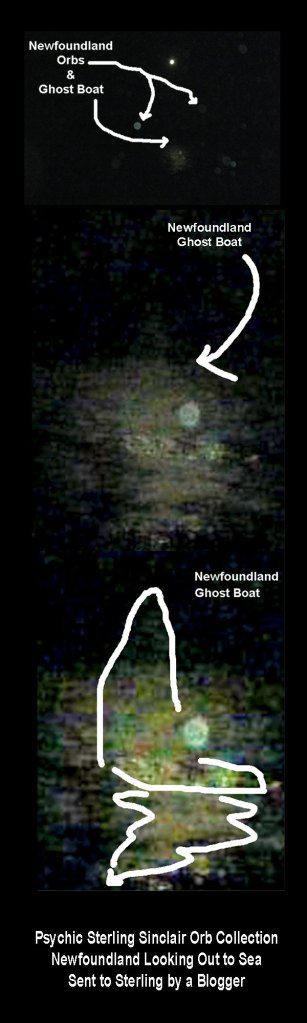 This is quite a tribute to all the fishermen/women who have been lost off the Newfoundland coast. Here we see a ghost boat lit under the bright moonlight.