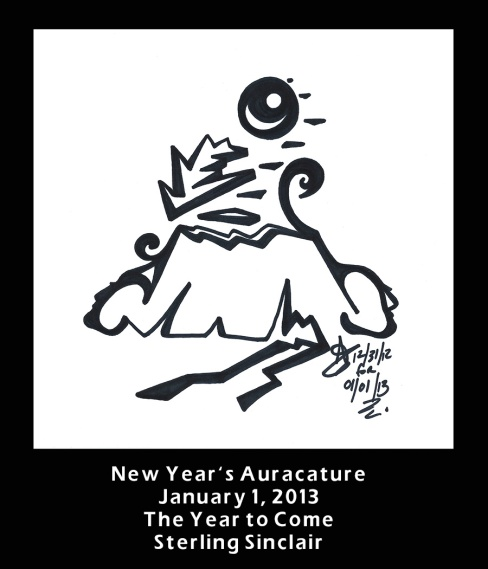 Sterling Sinclair Auracature New Year's 2012 2013 January 1 2013