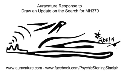 Psychic Sterling Sinclair Auracature Missing Malaysia Plane Flight MH370 370 April 3 2014 3
