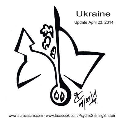 Psychic Sterling Sinclair Auracature Ukraine Russia USA NATO Update April 23 2014