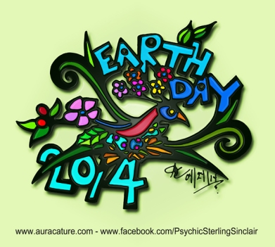 Psychic Sterling Sinclair Earth Day 2014 Auracature