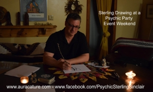 Psychic Sterling Sinclair Life Coach Medium Counselling Auracature Art  Madoc Tweed Belleville artist art portrait 3 Jackson Falls 2014