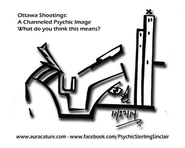 Psychic Sterling Sinclair Oracle Auracature Ottawa Canada Shooting Parliment Drawing October 22 2014