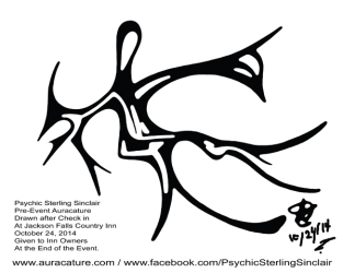 Psychic Sterling Sinclair Oracle Auracature Psychic Party 2 Jackson Falls Country Inn  October 24 2014