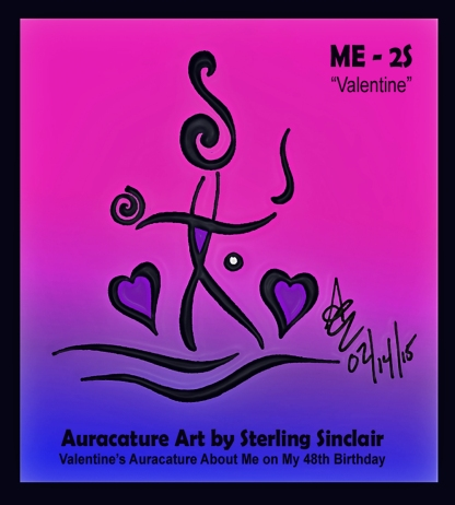 Psychic Sterling Sinclair Auracature Art Happy Valentine's Day Birthday Image 2 Spirit February 14 2015