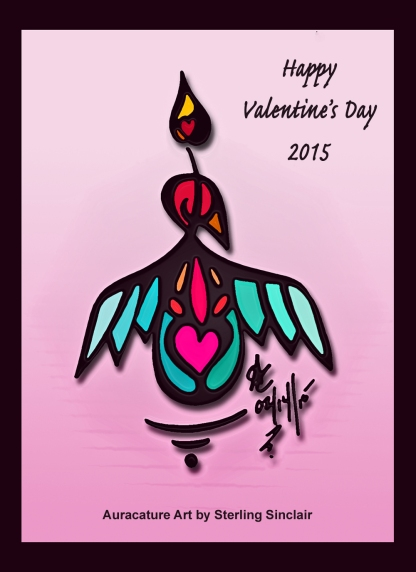 Psychic Sterling Sinclair Auracature Art Happy Valentine's Day February 14 2015