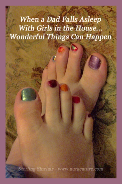 Oracle Sterling Sinclair Psychic Auracature Art Health and Fitness Joy Beauty Fun Mani Pedi Pedicure Dad Father Daughter Nail Polish copy
