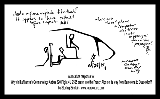 Oracle Sterling Sinclair Psychic Auracature Art Lufthansa Germanwings Airbus 320 Flight 4U 9525 crash into the French Alps on its way from Barcelona to Dusseldorf March 24 2015 1