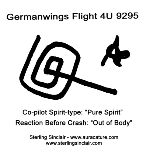 Oracle Sterling Sinclair Psychic Auracature Art Lufthansa Germanwings Airbus 320 Flight 4U 9525 crash into the French Alps on its way from Barcelona to Dusseldorf March 24 2015 3 co - Pilot