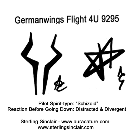 Oracle Sterling Sinclair Psychic Auracature Art Lufthansa Germanwings Airbus 320 Flight 4U 9525 crash into the French Alps on its way from Barcelona to Dusseldorf March 24 2015 3 Pilot