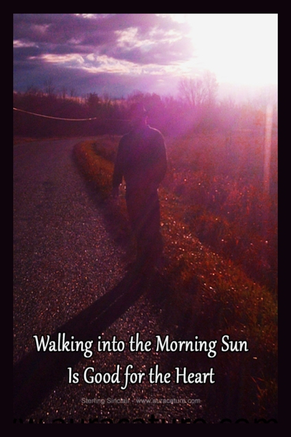 Oracle Sterling Sinclair Psychic Auracature Art Man Standing in Sunlight On Road Health and Fitness Morning Walk Sunlight March 13 2015 copy