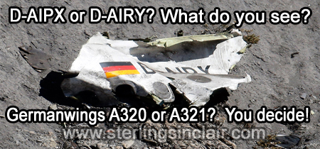 Oracle Sterling Sinclair Psychic Auracature Art Why did Lufthansa's Germanwings Airbus 320 Flight 4U 9525 Crash into the French Alps on its way from Barcelona to Dusseldorf March 24, 2015 ID Wrong Debris