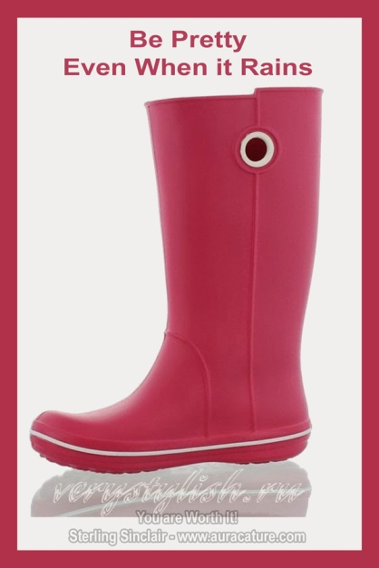 Oracle Sterling Sinclair Psychic Auracature Art Womens Fashion rubber boots pink spring 2015