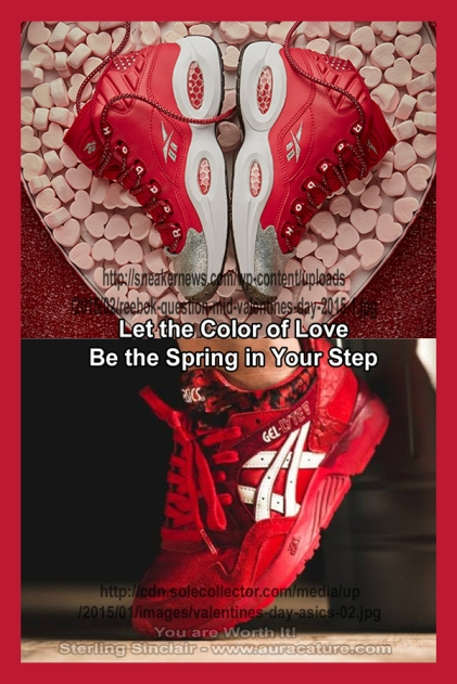 Oracle Sterling Sinclair Psychic Auracature Art Womens Fashion Sneakers 2015 Spring Red Reebok Asics